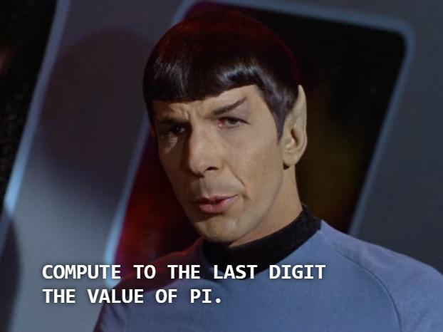 Spock rozkazuje obliczyć ostatnią cyfrę pi